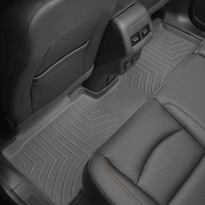 Black/Rear FloorLiner/Ford/F-150/2015 +/Fits Supercrew models only