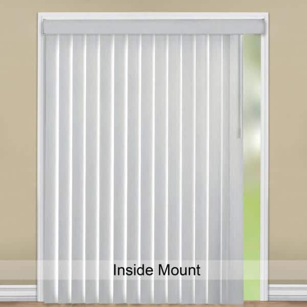 Hampton Bay Rustic White Room Darkening Vertical Blind For Sliding Door Or Window Louver Size 3 5 In W X 65 In L 9 Pack 10793478814855 The Home Depot