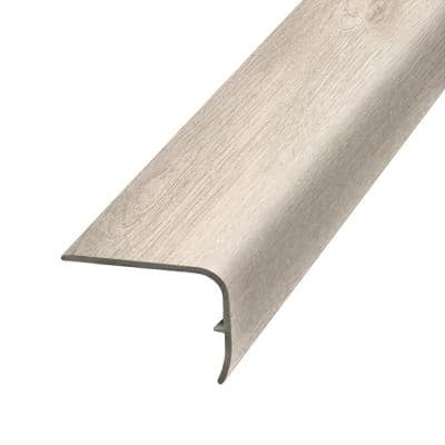 Haze 1.32 in. Thick x 1.88 in. Wide x 78.7 in. Length Vinyl Stair Nose Molding