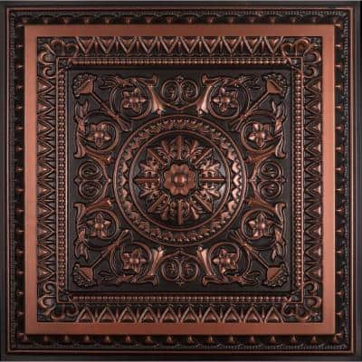 La Scala 2 ft. x 2 ft. PVC Lay-in or Glue-up Ceiling Tile in Antique Copper (100 sq. ft. / case)