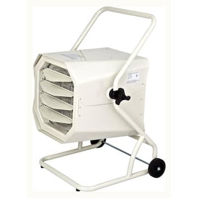 10000-Watt 240-Volt Heavy-Duty Hardwired Shop Garage Heater with Cart and Adjustable Thermostat