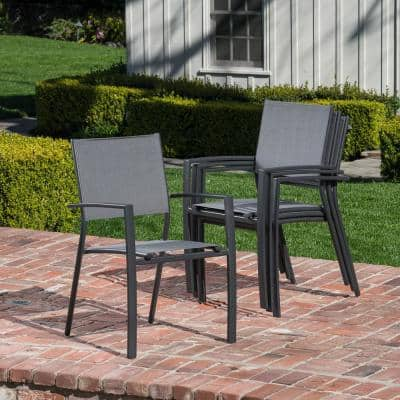 Naples 7-Piece Aluminum Outdoor Dining Set with 6 Sling Chairs and a 63 in. x 35 in. Dining Table