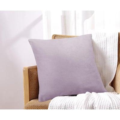 Maxine Chenille  Lavender 18 in. x 18 in. Decorative Pillow