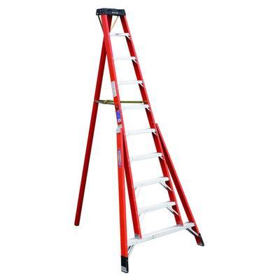 10 ft. Fiberglass Tripod Step Ladder with 300 lb. Load Capacity Type IA Duty Rating