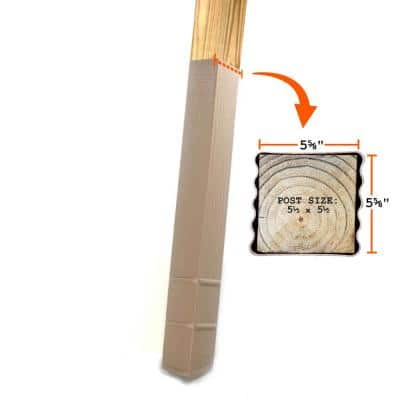 6 in. x 6 in. x 42 in. In-Ground Post Decay Protection
