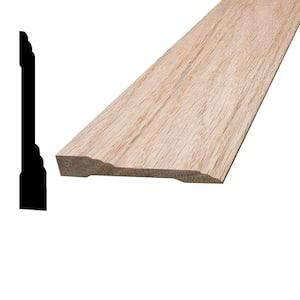7/16 in. x 3 in. x 96 in. Oak Wood Baseboard Moulding