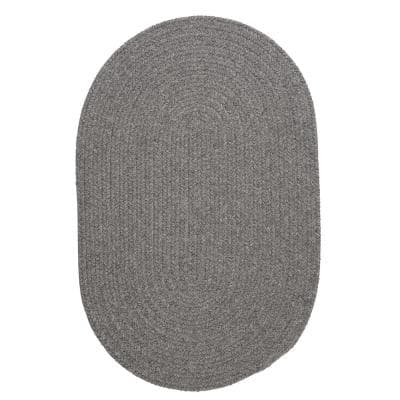 Edward Gray 3 ft. x 5 ft. Oval Braided Area Rug