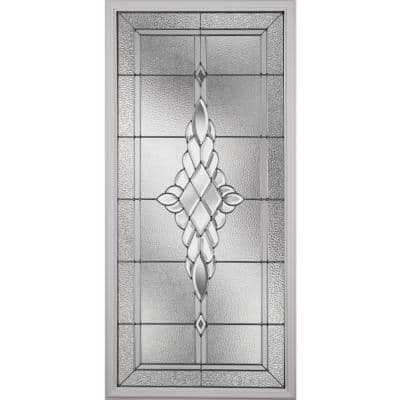 Grace with Nickel Caming 22 in. x 48 in. x 1 in. with White Frame Replacement Glass