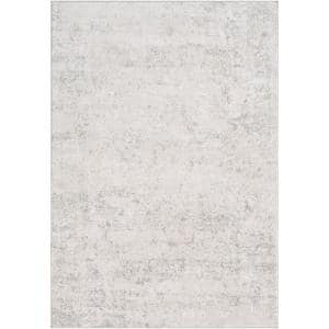 Marquis Grey 6 ft. 7 in. x 9 ft. 6 in. Distressed Area Rug