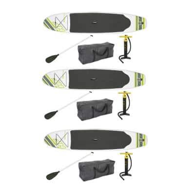 122 in. x 27 in. Inflatable Hydro Force Wave Edge Standup Paddle Board (3-Pack)