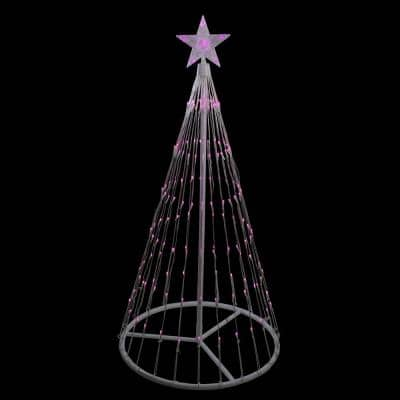 4 ft. Pink LED Lighted Show Cone Christmas Tree Outdoor Decoration