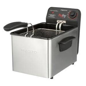 Professional 3.2 Qt. Stainless Steel Deep Fryer with Fry Basket