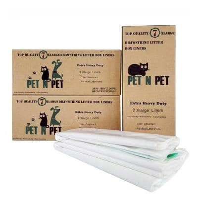34 in. x 18 in. X-Large Extra Heavy-Duty Cat Pan Litter Box Liners (21-Liners/Box)