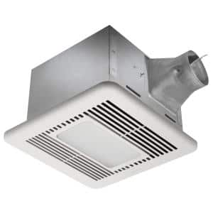 110 CFM Bathroom Exhaust Fan with Humidity Sensor and Dimmable LED Light
