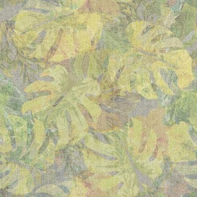 Yellow and Green Jungle Leaf Canopy Peel and Stick Wallpaper (Covers 28.29 sq. ft.)