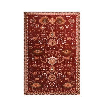 Oasis Red 4 ft. x 6 ft. Area Rug