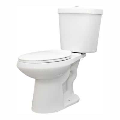 2-piece 1.1 GPF/1.6 GPF High Efficiency Dual Flush Complete Elongated Toilet in White, Seat Included (9-Pack)