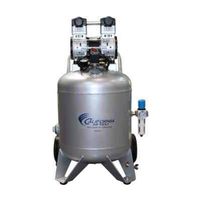 Ultra-Quiet 30 Gal. 220-Volt 60 Hz Electric 2.0 HP Portable and Oil-Free Air Compressor