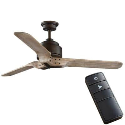 Chasewood 54 in. Indoor/Outdoor Roasted Java Ceiling Fan with Remote Control