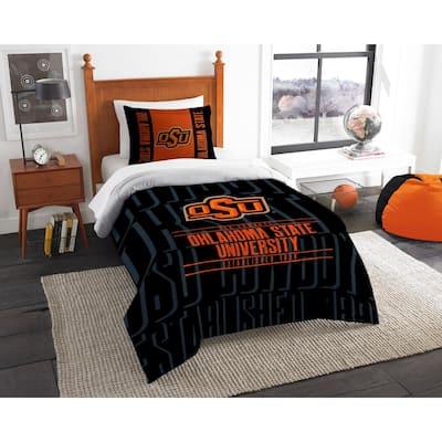 Oklahoma State 2-Piece Modern Take Multi Twin Comforter Set