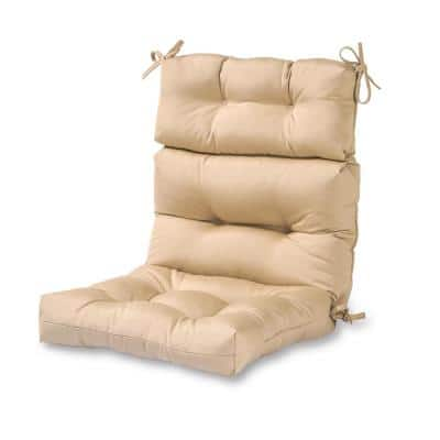 Solid Stone Outdoor High Back Dining Chair Cushion