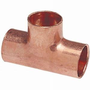 1/2 in. Copper All Cup Tee Fitting (10-Pack)