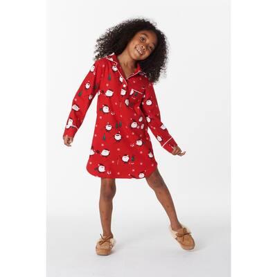 Family Flannel Company Cotton™ Girl's Sleepshirt in Santa