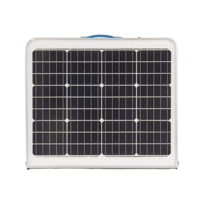 60-Watt Portable Folding Table With Solar Panel Device Charger