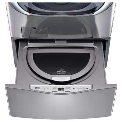 27 in. 1.0 cu. ft. SideKick Pedestal Washer with TWINWash System Compatibility and NeveRust Drum in Graphite Steel
