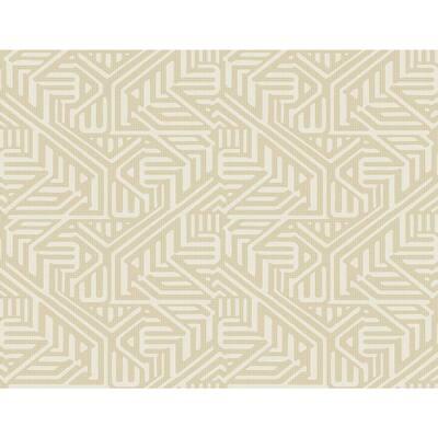 Nambiti Cream Geometric Cream Vinyl Strippable Roll (Covers 60.8 sq. ft.)