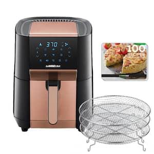 7 Qt. Black/Copper Air Fryer and Dehydrator Max XL