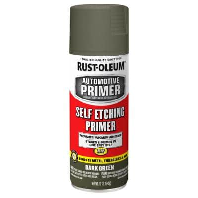 12 oz. Self Etching Dark Green Primer Spray (6-Pack)