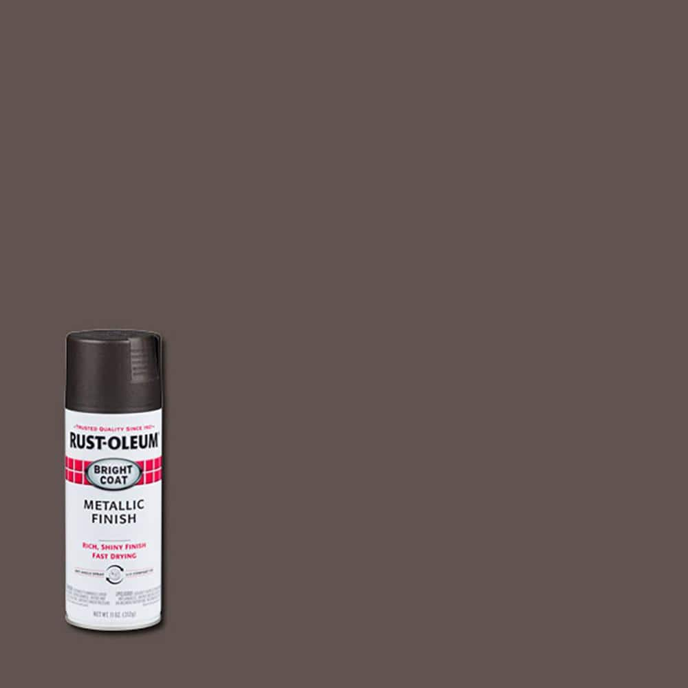 Rust-Oleum Stops Rust 11 oz. Bright Coat Metallic Dark Bronze Spray Paint