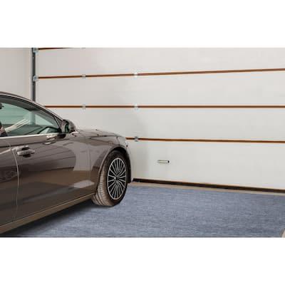 10 ft. L x 7 ft. 2 in. W Garage Floor Mat Gray Polypropylene Protective Carpet Mat
