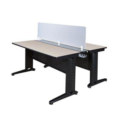 66 in. x 24 in. Fusion Maple Benching System with Privacy Panel