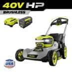 40V HP Brushless 21 in. Battery Walk Behind Push Lawn Mower with 7.5 Ah Battery and Rapid Charger