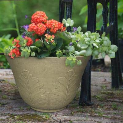 Acanthus 16 in. x 10.15 in. High-Density Resin Planter