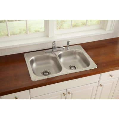 Everyday Single-Handle Standard Kitchen Faucet with Escutcheon and Side Spray in Chrome