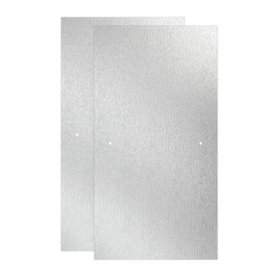 29-1/32 in. x 55-1/2 in. x 1/4 in. (6 mm) Frameless Sliding Bathtub Door Glass Panels in Rain (For 50-60 in. Doors)