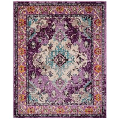Floral Purple Area Rugs Rugs The Home Depot