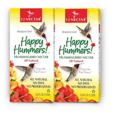 33.8 oz. Hummingbird Nectar/Food Ready-to-Use 100% Sugar and Water (2-pack)