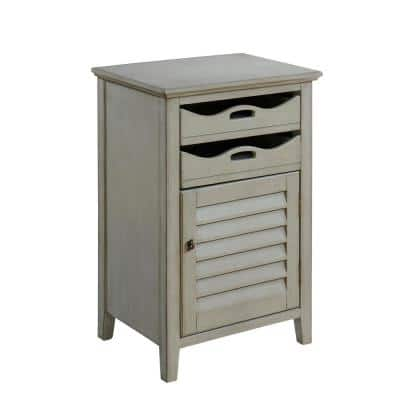 Madrillion Burnished Grey 1-Door 2-Drawer Cabinet