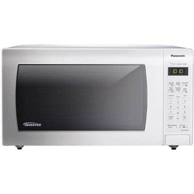 1.6 cu. ft. Countertop Microwave in White, Built-In Capable with Sensor Cooking and Inverter Technology, White