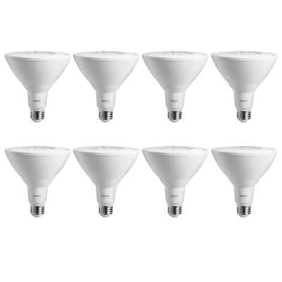 90-Watt Equivalent PAR38 Non-Dimmable Ambient LED Flood Light Bulb Soft White (8-Pack)