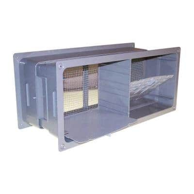 16 in. x 8 in. Plastic Block Vent with Damper