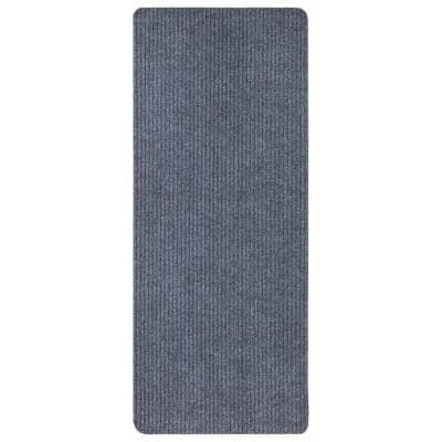 Lifesaver Collection Light Gray 2 ft. x 5 ft. Utility Ribbed Indoor/Outdoor Runner Rug