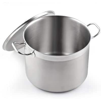 Professional Grade 20 qt. Stainless Steel Stock Pot with Lid
