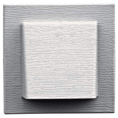 8 in. x 7.875 in. Water Management 4 in. Hooded Vent in #117 Bright White
