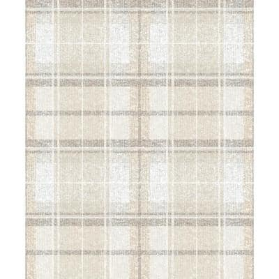Tweed Plaid Peel and Stick Wallpaper (Covers 28.29 sq. ft.)