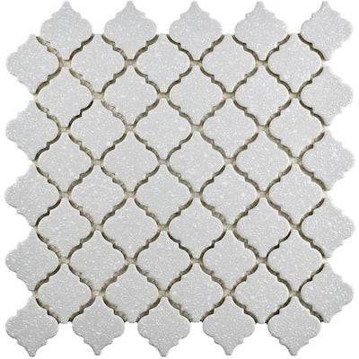 Hudson Tangier Crystalline Grey 12 in. x 12 in. Porcelain Mosaic Tile (10.96 sq. ft. / Case)